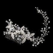 Dalia Rhinestone & Crystal Leaf Vine Wedding Bridal Occasion Comb
