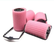Romantic Queen Party Girl Ladies DIY Big Wave Curly Hair Roller Sponge Hair Curlers Pink
