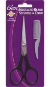 Moustache/ Beard Scissors & Comb