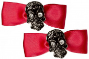 Sourpuss Muerte Bow Barrettes Red
