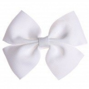 Hair Bow: White