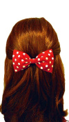 Raging Retro 40s & 50s Rockabilly Red Polka Dot Hair Bow