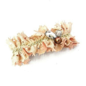 Bejewelled Chain Fabric Hair Barrette Made in USA
