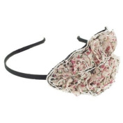 Karina - French Couture Thin Headband w/Flower Print and Sequin Arrangement #K10784X1