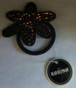 Karina French Couture Gold Embroidered Hair Barrette
