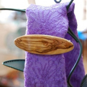 Hand Carved Oval Olive Wood Barrette