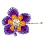 Tarina Tarantino - Fashion Couture - Tokyo Hardcore Collection. Crystal Kanzashi Bobby Pin - Purple #BP01F7-2