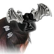 Crystal Bat Clip Gothic Hair Accessories Alchemy Alternative Lifestyle