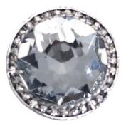 MAURIZIA Silver Crystal Scarf Clip