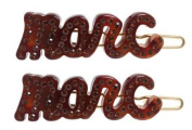"Marc by Marc Jacobs ""Marc"" Script Hair Clips Hair Barrette"
