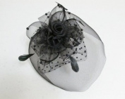 Elegant Cocktail Fascinator Headband --- Black By Pixiheart