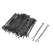 Rosallini Woman Lady Black Metal Hair Grips Pins Clips 68 Pcs