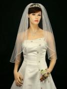 1T 1 Tier 0.3cm Ribbon Edge Bridal Wedding Veil