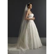 1 Tier Cathedral Cut/No Edge Wedding Bridal Veil Extra Wide