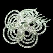 Bridal Wedding Jewellery Crystal Rhinestone Luxurious Floral Design Hair Comb Pin