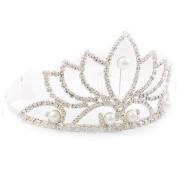 Bridal Wedding Jewellery Crystal Rhinestone Pearl Beautiful Classic Hair Tiara