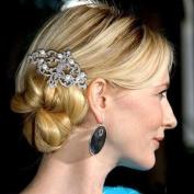 Ever Faith Bridal Pearl Flower Austrian Crystal Hair Comb Headpiece