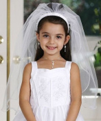 Communion Veil - First Communion Veils - Beaded Headband with Veils - Girl's Veils for Communion
