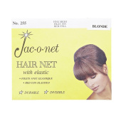 Jac-O-Net Nylon Bouffant Hair Net - Blonde