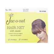 Jac-O-Net Nylon Bouffant Hair Net - Blonde