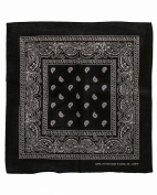 Black Paisley Designed Bandana 100% Cotton