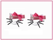 2pc Set Hello Kitty Hair Bow Clips
