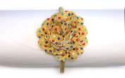 Silk Polka Dots Flower Headband