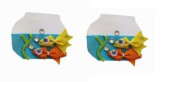 2pc Set Fish Hair Bow Clips - Aquarium