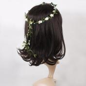 Catalina Boho Summer Flower Garden Garland Wedding Forehead Hair Head Band