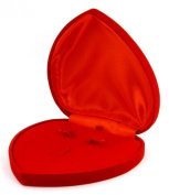 Endearing Heart-Shaped Velvet Jewellery Gift Box in Red for All Your Gift-Giving Occasions to Your Love Ones #E1FArd