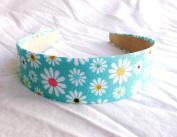 New Flowers Paradise on Teal Headband