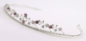 Delicate Bridal Tiara of Rhinestone Flowers and Vines for Wedding, Prom, Communion, Quinceañera or Other Special Events #85CG