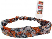 Orange & White Frilly Flower Boutique Headband - Spring Flowers Headband - Stylish Fashion Headband