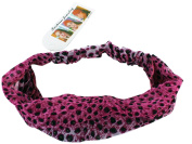 Pink Leopard Print Headband - Faux Leopard / Cheetah Headband - Stylish Fashion Headband