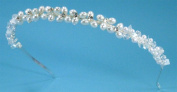 Delicate Headband of Pearls, Rhinestones, Crystal Beads and Sequins #818E0