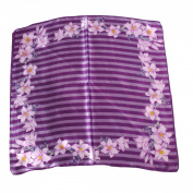 Silk Effect Scarf for Head or Neck; Medium (60cm Square); Design