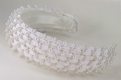 Pearly Satin Bridal Headband for Wedding, Prom, Quinceañera or Other Special Events #88DEwi