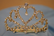 (SMALL)Elegant Bridal Wedding Tiara Crown with Crystal Party Accessories DH3519
