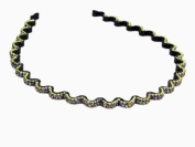 W & Hstore Crystal Decor Black Base metal Head Band Hairband