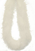 Touch of Nature 36885 Fluffy Boa, White with Lurex