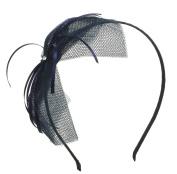 Girls Women Lightweight Net Bow Hairband Headband with Dangling Ribbons
