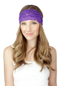 Purple Lace Headband