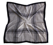 Silk Effect Scarf for Head or Neck; Large (90cm Square); Design