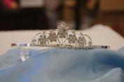 (BIG)Elegant Bridal Wedding Tiara Crown with Crystal Party Accessories DH5915