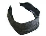 Gorgeous Wide Glittering Black Spangles Headband