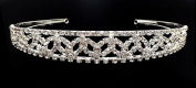iPhashon Silver Wedding Pageant Crystal Tiara Headband Headpiece H807