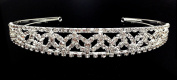 iPhashon Silver Wedding Pageant Crystal Tiara Headband Headpiece H807