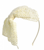 Girls Womens Big Crochet Headband Hairbow Hair Accessory