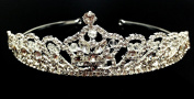 iPhashon Silver Bridal Wedding Prom Rhinestone Crystal Princess Crown Tiara Headband H811