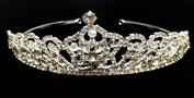 iPhashon Silver Bridal Wedding Prom Rhinestone Crystal Princess Crown Tiara Headband H811